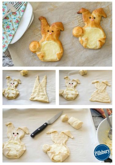 Cream Cheese Crescent Bunnies are easy to make and the perfect Easter treat! Made with Pillsbury refrigerated crescent dinner rolls and other simple ingredients. We're guessing some bunny you know will love this quick twist on Danish rolls for your Easter table! Follow the simple recipe here.