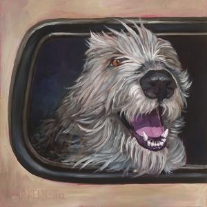 Irish Wolfhound custom dog portrait by David Kennett at bffpetpaintings.com