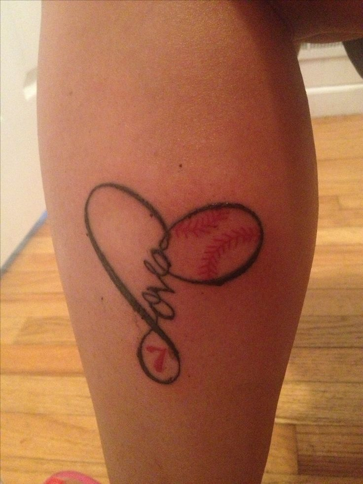 #love #softball #tattoo