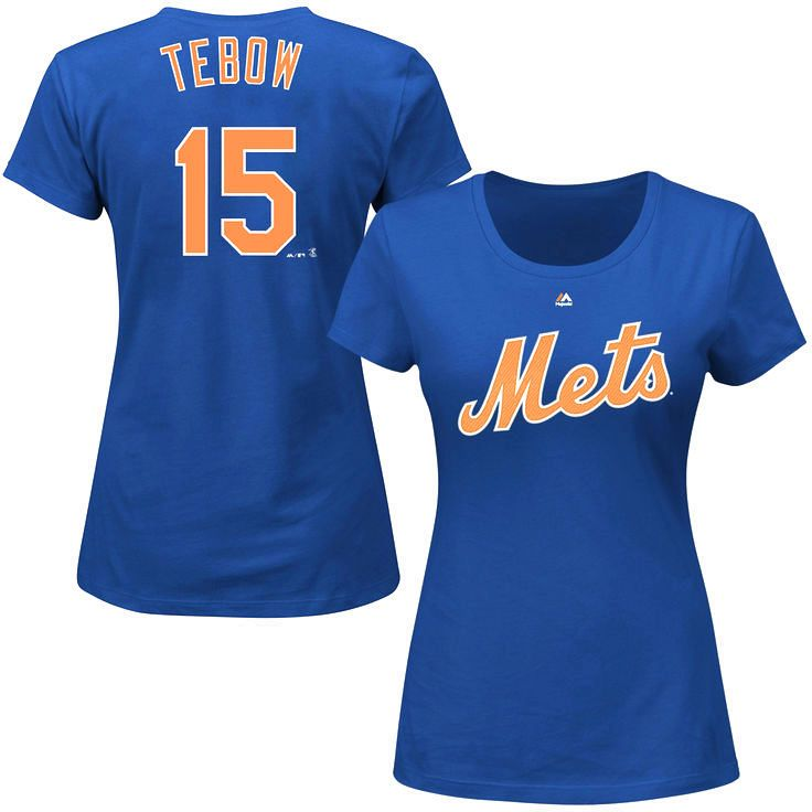 Tim Tebow New York Mets Majestic Women's Official Name & Number T-Shirt - Royal - $29.99