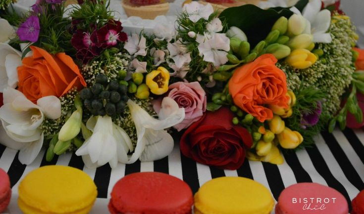 STRIPES AND FLORAL DESSERT TABLE #stripes #floral #party #anniversary #ohitsperfect