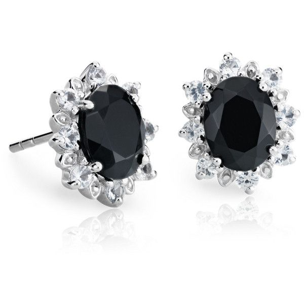 Blue Nile Sunburst Oval Black Onyx Stud Earrings ($250) ❤ liked on Polyvore featuring jewelry, earrings, blue nile, stud earrings, black onyx earrings, oval earrings and blue nile jewelry