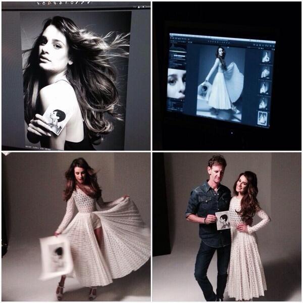 Behind the scenes of Lea's Glamor Magazine Photo shoot.  Lea looks absolutely breathtaking