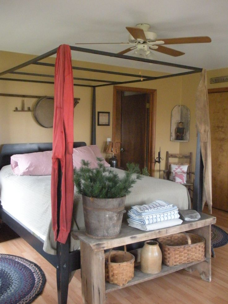 1000 images about primitive bedroom on pinterest for Primitive interior designs