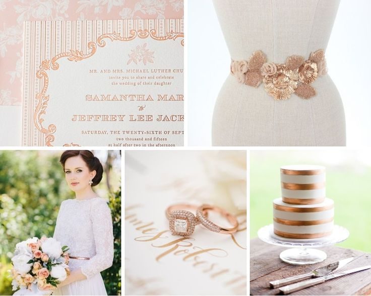 Top Wedding Trends for 2014 - Rose Gold