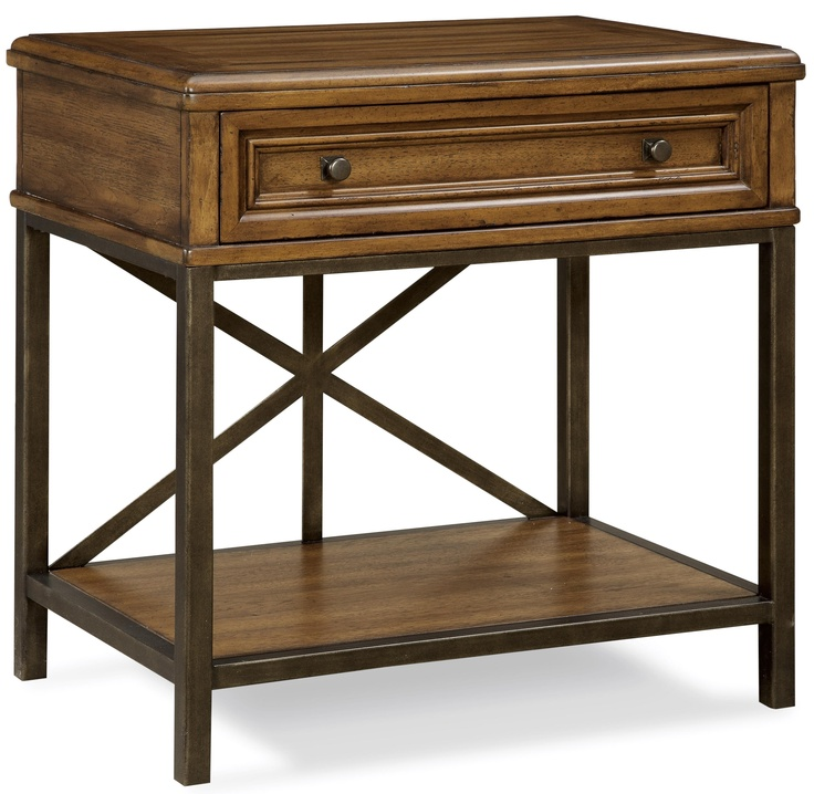 Iron And Wood Nightstand A R T Furniture Inc Nightstand Goods Home Furnishings Wood Nightstand