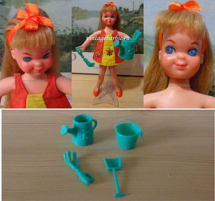 Vintage Barbie Tutti Doll European Issue Hong Kong in Plantin' Posies #3609  #Mattel #DollswithClothingAccessories