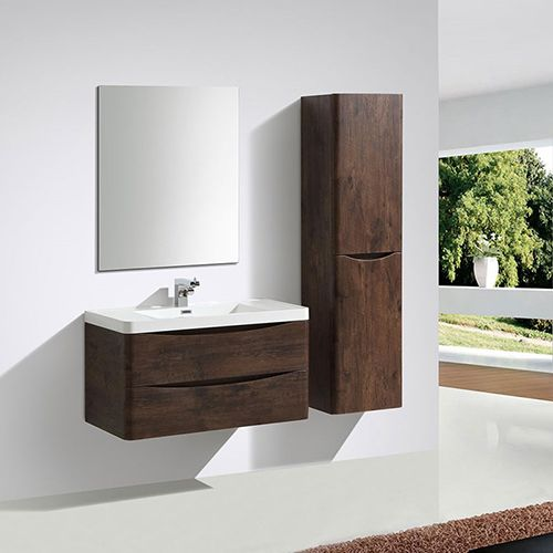 Need Some Extra Storage Space In Your Bathroom The Maya Tall Unit With A Chestnut Finish Is Wonderful Option For Any Contemporary Setting