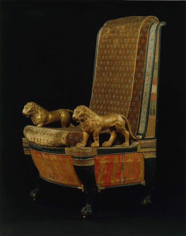 Armchair After A Throne Painted On Rameses IIIu0027s Tomb Wall