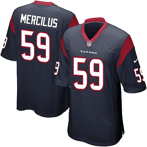 new youth navy blue nike game houston texans 59 whitney mercilus team color nfl jersey