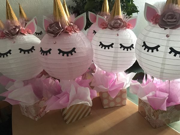 Unicorn Centerpieces Pastel Colors Unicorn