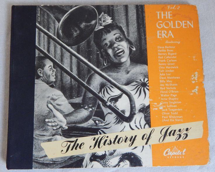 The 1945 History of Jazz Vol. 2 The Golden Era Jazz Capitol Records CE-16 Creole Music Cajun Music Jazz vocal jazz instrumental