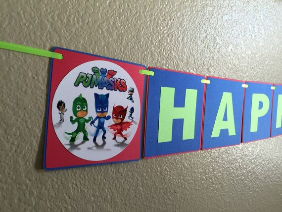 Pj Masks Pj Masks Birthday banner Pj Masks by CuddleBuggParties