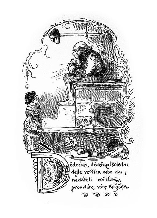 Mikoláš Aleš: Dědečku dědečku koleda http://www.herbia.cz/products-page/pohlednice/umelecke/page/7/