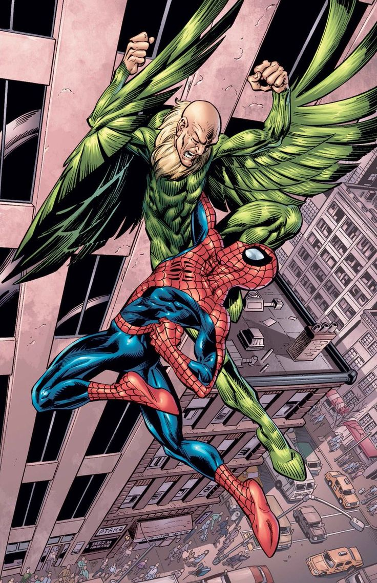 Spider Man And Vulture Coloring Pages Display