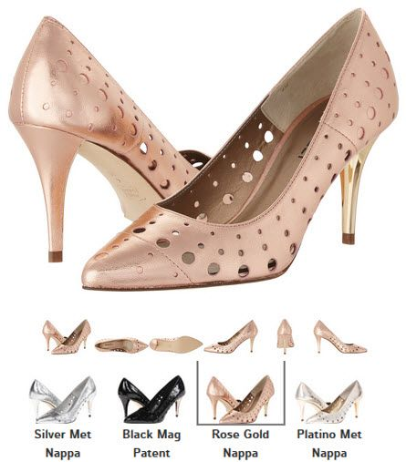 Pantofi din piele perforata cu toc stiletto by Vaneli Skinny argintii, negru, roz, platinati Detalii aici http://thankyou.ws/pantofi-stiletto-din-piele-naturala-alege-calitatea #pantofisenzationali  #pantoficutocstiletto #pantofidinpielenaturala #pantofistilettopielenaturala #Vaneli #Skinny