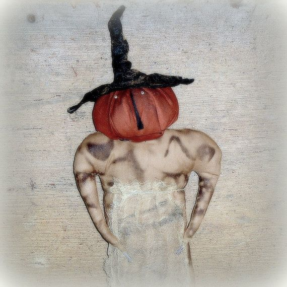 Hildy A Extreme Primitive Pumpkin Witch Pattern by thegoodewife
