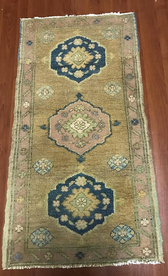 1 6 X3 1 Ft Muted Small Door Mat Rug Distressed Small Rug Low Pile Rug Rug Oriental Rug Vintage Turkish Oushak Rug Door Mat Rug Small Door Mats Mat Rugs Rugs