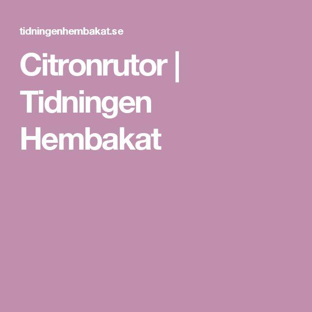 Citronrutor | Tidningen Hembakat