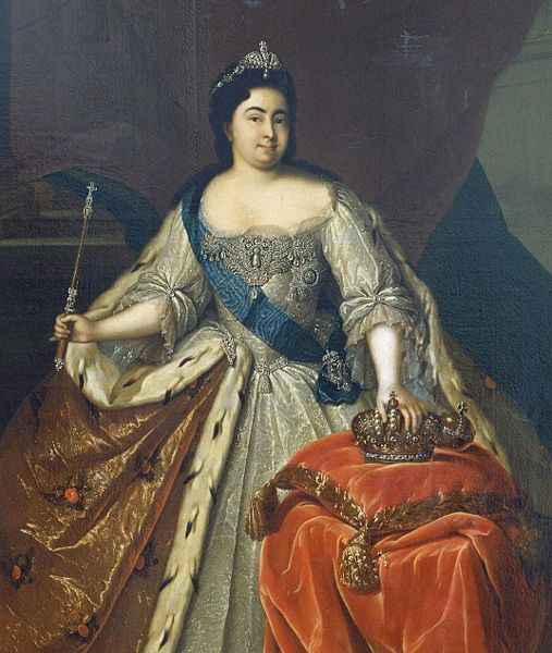 1725-27 Imperatitsa Regnant Catherina I of Russia  Peter the Great, who she married in 1712 at St. Petersburg.  On the death of Peter in 1725, she was proclaimed czarina.