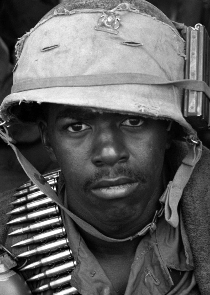 John Dittmann ©Stars and Stripes South Vietnam, September, 1967: A soldier from the 2nd Battalion, 14th Infantry pauses during a 25th Infantry Division, 1st Brigade helicopter assault just south of the Ho Bo Woods. Three companies swept north from the landing zone to clear the area and assess bomb damage from a B-52 raid earlier in the day. One of the companies, trailing as a reaction force, was ambushed and engaged in a 45-minute fire fight.