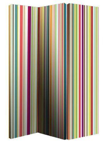 Amazon Com Bright Stripes Room Divider Screen Home Kitchen