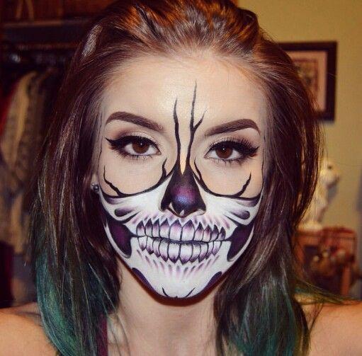 halloween skeleton makeup youtube