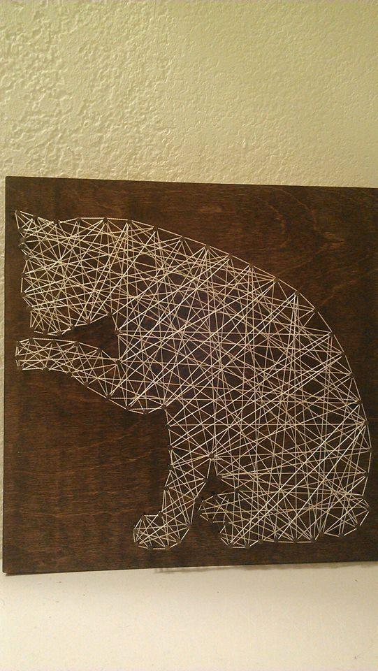 String and Nail Cat by HeartsOnAStringLLC on Etsy