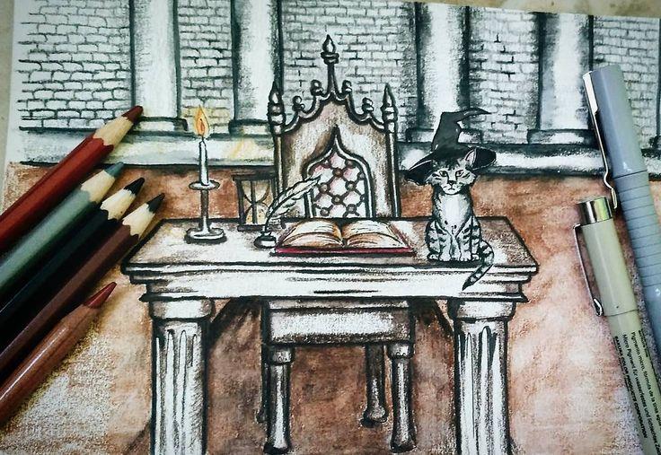 32 отметок «Нравится», 2 комментариев — Gallery of my hobbies (@injurka) в Instagram: «Кое - кто насмотрелся Гарри Поттера. . . . #harrypotter #sketch #sketchbook #artbook #art…»