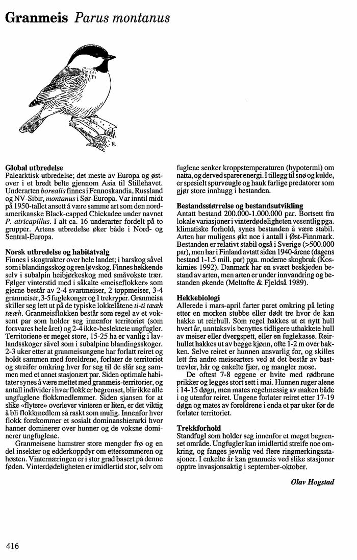Norsk Ornitologisk Forening - Norske fugler