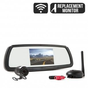 Rear View Safety Wireless Backup Camera System with Mirror Monitor RVS-091407
