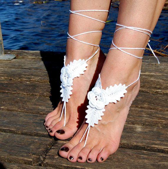 Mejores 125 imágenes de Crochet Barefoot Sandals en Pinterest ...