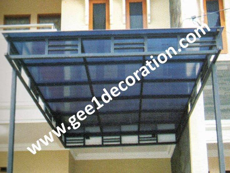 aluminium, kusen, kaca, partisi,  pintu, jendela, lipat, geser, swing, jungkit, pivot, sliding, : atap canopy polycarbonate