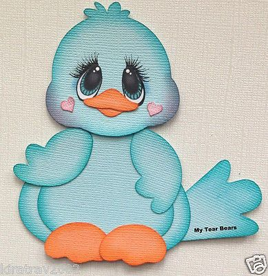 Premade Paper Piecing Animal Spring Blue Bird by My Tear Bears Kira | eBay