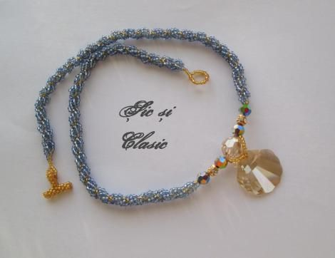 haute couture designer Adelina Maries http://sicsiclasic.wordpress.com This necklace is available only by order so if you like it order it now . Swarovski necklace jewellry