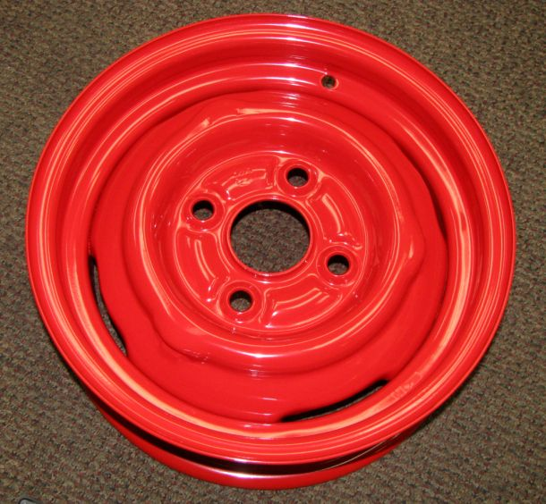 Red Powder Coated Steel Rims