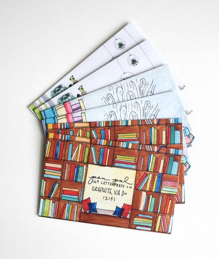 Decorated Envelopes, Mail Art, Penpal, Pen Pal, Letter