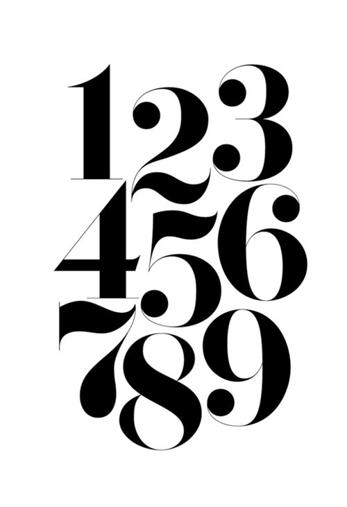 17 best images about numbers in typography on pinterest typography herb lubalin and number