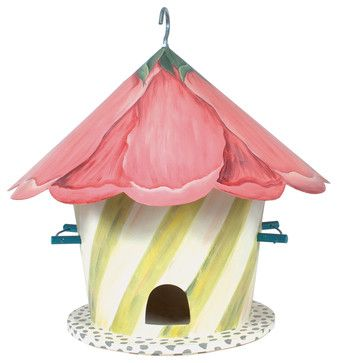 Hollyhock Birdhouse | MacKenzie-Childs - eclectic - birdhouses - other metro - MacKenzie-Childs