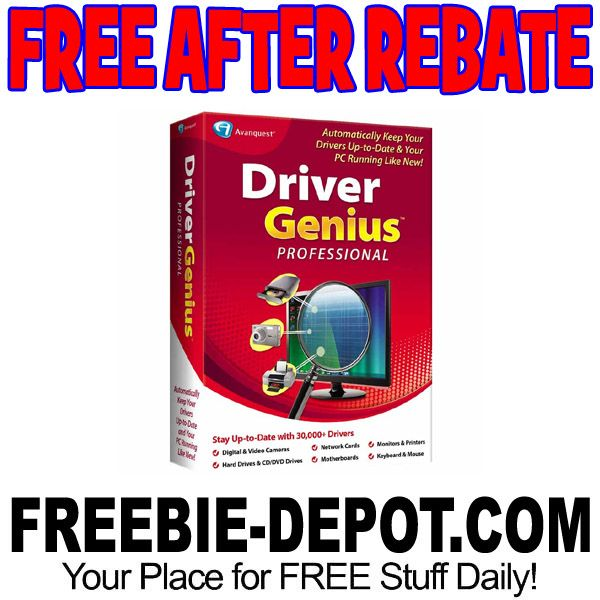►► FREE AFTER REBATE - Driver Genius Professional Software - FREE Shipping - Exp 9/9/17 ►► #Free, #FreeAfterRebate, #FREESoftware, #FREEStuff, #FREEbate, #Freebie, #FrysCom ►► Freebie Depot