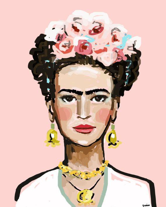 Frida Kahlo imprimir, rosas, 8 x 10, 12 x 15, 16 x 20, 24 x 30, 30 x 40