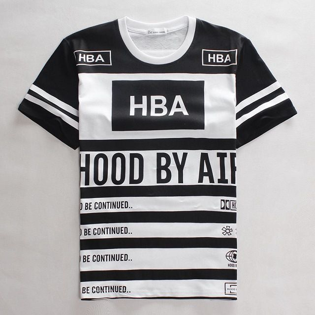 HOT men HBA t shirt fashion 2016 summer new skate clothing youth Tshirt casual…