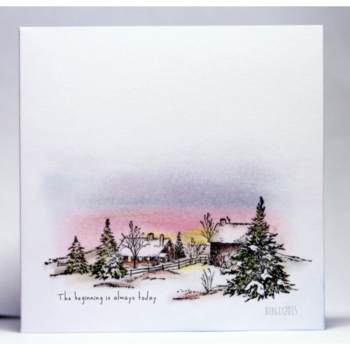 Serendipity Stamps Winter Farm Rubber Stamp Water
