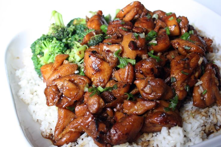 The Hawaiian version replaces Japanese sweet cooking wine with brown sugar and adds ginger and green onions.