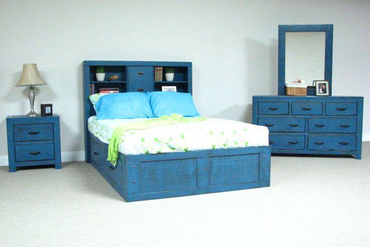 Marvelous light blue nightstand