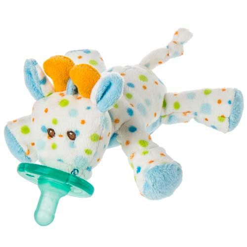 Mary Meyer Wubbanub Stretch Giraffe Pacifier Soothie Holder