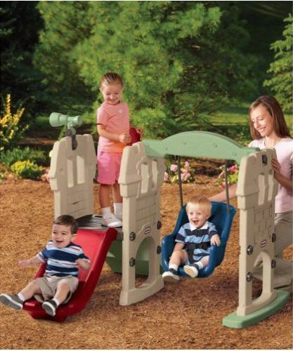 Little Tikes Slide Swing Castle Play Set For Toddlers