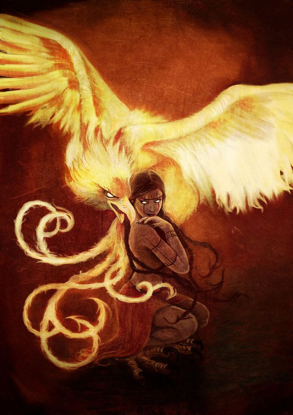 I want a phoenix tattoo like this but without the girl