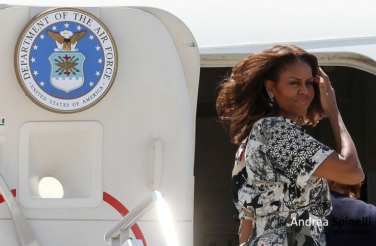 First Lady Michelle Obama departure from Marco Polo Airport in Venice, Italy