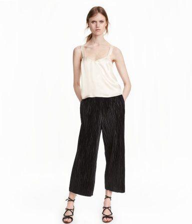 Plisserede bukser | Sort | Ladies | H&M DK